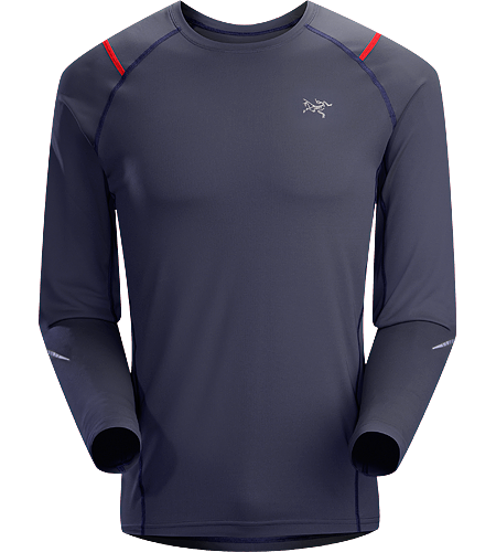 Accelerator LS Men's A lightweight, breathable, moisture-wicking, technical long-sleeve shirt constructed with a slightly heavier fabric and designed for running in cool conditions.
