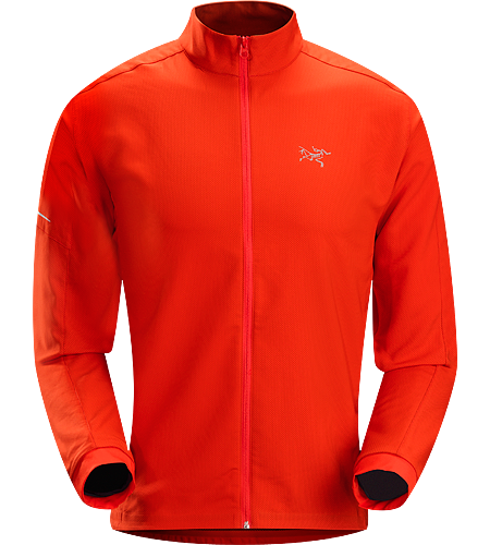 Accelero Jacket Men's Breathable, moisture-wicking jacket; Ideal for aerobic activities in cooler weather.