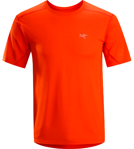 Actinium SS Men's Highly air permeable, lightweight, moisture-wicking, mesh short sleeve running shirt