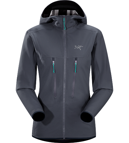 Acto MX Hoody Women's <strong>Acto Series: Mid layer with abrasion resistant exterior | MX: Mixed Weather. </strong>Highly breathable, air permeable, mid layer hooded hardfleece jacket that provides bulk-free warmth for all day activity