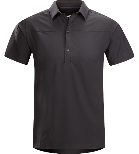 Adventus Comp Polo SS Men's A different take on the classic polo shirt made from a lightweight and quick drying fabric.