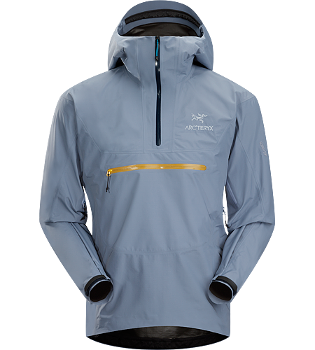 Alpha SL Pullover Men's Lightweight, waterproof, pullover-style GORE-TEX® PacLite® jacket with helmet compatible hood. This lightweight packable waterproof shell is designed for take-anywhere emergency weather protection.