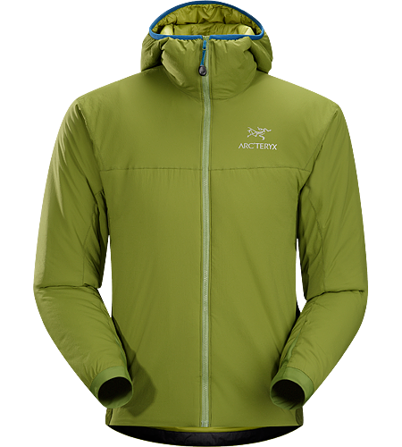 Atom LT Hoody Men's <strong>Atom Series: Synthetic insulated mid layers | LT: Lightweight. </strong>Insulated, mid-layer hoody with wind and moisture resistant outer shell; Ideal as a layering piece for cold weather activities.