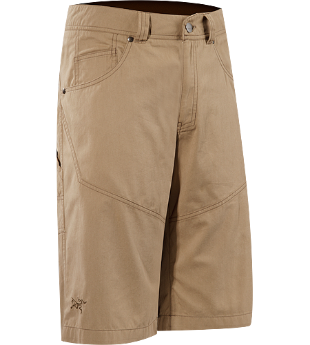 Bastion Long $^Men's^$ Durable, hard-wearing, cotton/nylon canvas shorts designed for use at the crag or around town
