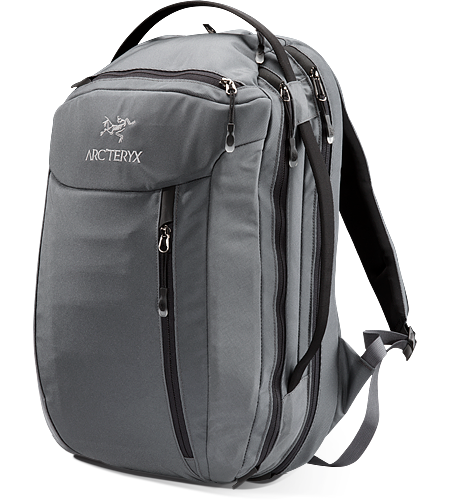 Blade 24 Mid-sized travel backpack with laptop and accessory compartments.