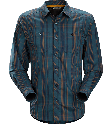 Borderline Shirt LS Men's Leichtes, atmungsaktives Langarmshirt aus Funktionsmaterial mit legerem Stil. Ideal für Reisen oder ausgedehnte Streifzüge durch die Stadt.