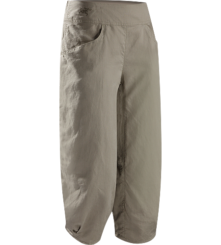 C'esta Capri $^Women's^$ Lightweight, breathable, relaxed fit cotton/linen capri pants with a wide, comfort waistband and gathered, pleated cuffs. Ideal for casual urban use in hot weather, or while travelling.