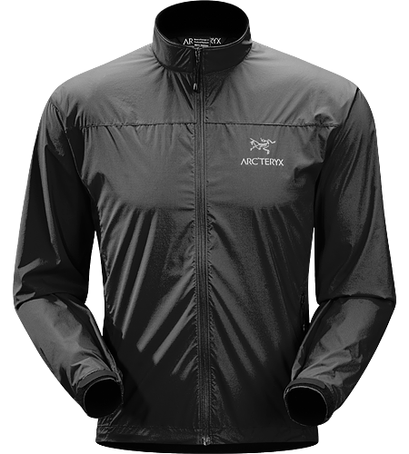 Celeris Jacket Men's Ultra-light and compressible windshell jacket, patterned for athletic performance.