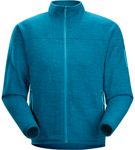Covert Cardigan Men's Luftige Fleece-Jacke in lässigem Look - ideal als zweite Lage oder solo