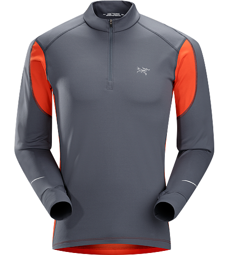 Cyclic Zip Neck Men's Mid-to-heavy weight, highly featured mid-layer with excellent moisture management properties constructed using two weights of Phasic™ textile for optimal temperature regulation. Ideal for trail running and high output activities.