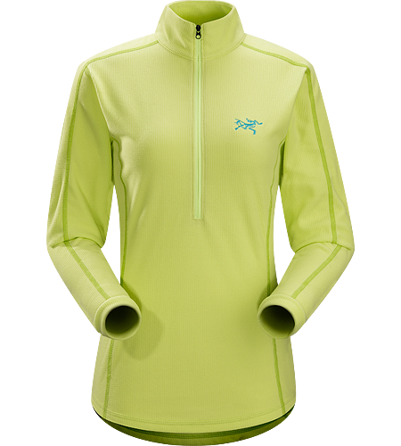 Delta LT Zip Neck $^Women's^$ <strong>Delta Series: Mid layer fleece | LT: Lightweight. </strong>Breathable, moisture-wicking, lightweight insulated jersey.