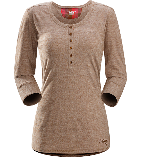 Emissary LS Women's Premium quality, three-quarter length sleeve Henley shirt made of Laincast™ wool blend textile; Ideal for multi-day, multi purpose use.