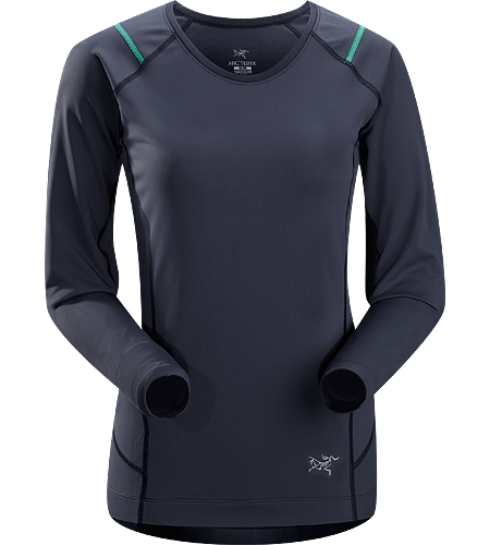 Ensa LS Women's Breathable, moisure wicking, technical long sleeve running shirt made with a slightly heavier fabric that is ideal for active use on cooler days.