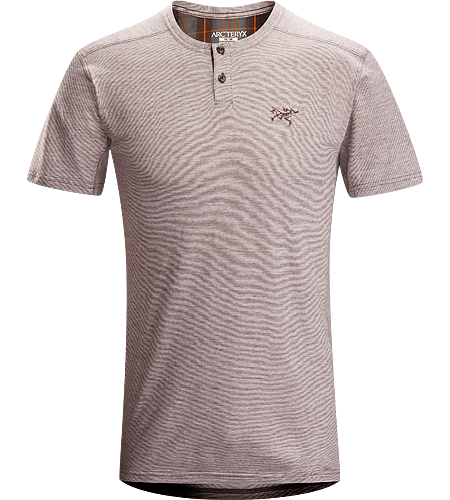 Envoy Henley SS Men's Natural fibre cotton/wool blend Henley shirt with anti-microbial properties