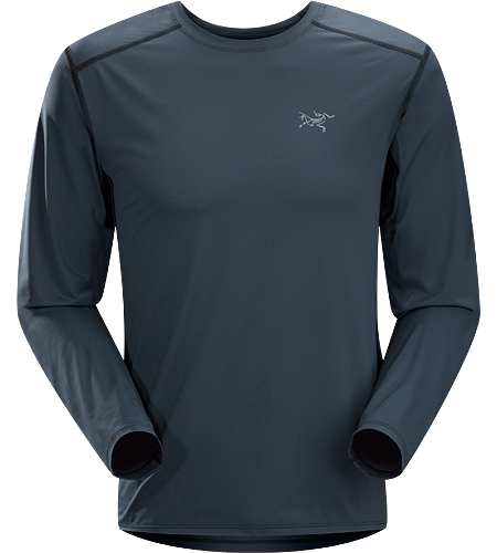 Ether Crew LS $^Men's^$ Durable, lightweight, moisture-wicking long-sleeved shirt with mesh underarm panels to aid venting.