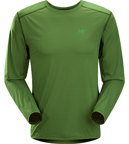 Ether Crew LS Men's Durable, lightweight, moisture-wicking long-sleeved shirt with mesh underarm panels to aid venting.