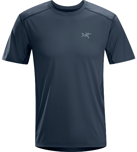 Ether Crew SS $^Men's^$ Durable, lightweight, moisture-wicking short-sleeved shirt with mesh underarm panels to aid venting.