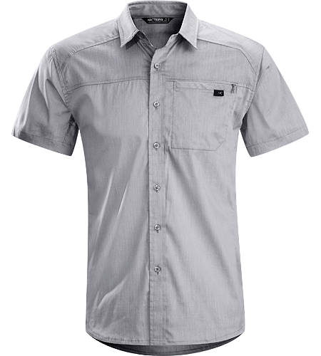 Frontera Shirt SS Men's Lightweight, short-sleeved collared shirt constructed with breathable Cotton textile; ideal for travel in a variety of climates and conditions.