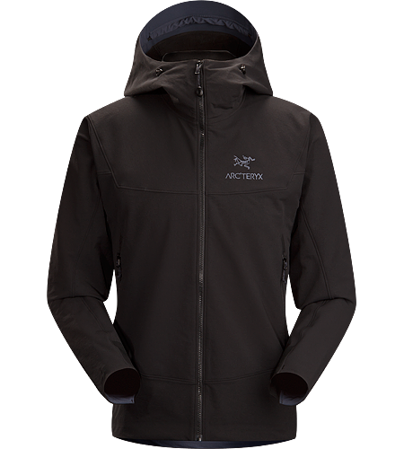 Gamma LT Hoody $^Men's^$ <strong>Gamma Series: Softshell outerwear with stretch | LT: Lightweight. </strong> Durable and breathable, wind and moisture resistant softshell hooded jacket for everyday use. Ideal for active outdoor use.
