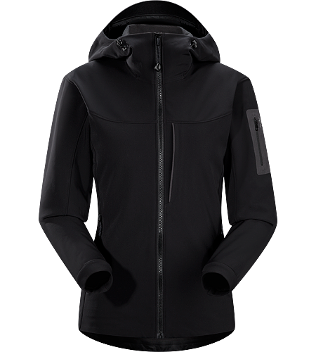 Gamma MX Hoody Women's <strong>Gamma Series: Softshell outerwear with stretch | MX: Mixed Weather. </strong> Breathable, wind-resistant, lightly insulated hooded jacket constructed with Fortius 2.0 textile for increased comfort and mobility