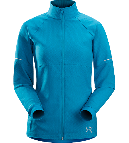 Kapta Jacket $^Women's^$ An air permeable, mid weight jacket constructed with a moisture-resistant textile with a smooth outer face and an odour control backer. Ideal for running in cool weather.