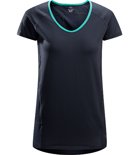 Kapta Shirt SS $^Women's^$ Lightweight, breathable, stretchy short sleeve shirt with a mesh back panel; ideal for active pursuits in warm weather