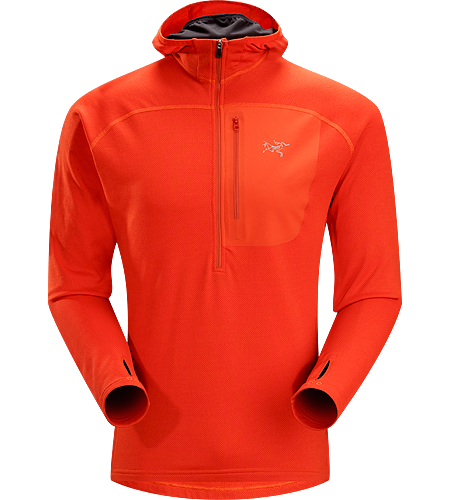 Konseal Hoody 3/4 Zip Men's Trim-fitting, mid-weight, hardface fleece mid-layer hoody that moves easily inside a shell