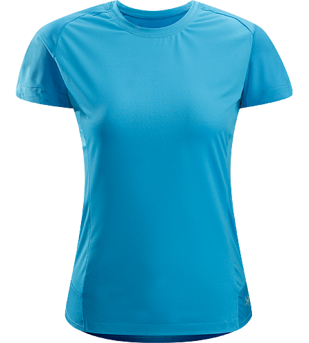 Mentum Comp SS Women's Loose-fitting, moisture-wicking, stretchy short-sleeve T-shirt; ideal for running, hiking, and other high-output activities.