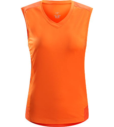 Mentum Comp Sleeveless Women's Lightweight, breathable, moisture-wicking stretchy sleeveless shirt; ideal for active pursuits in warmer conditions.
