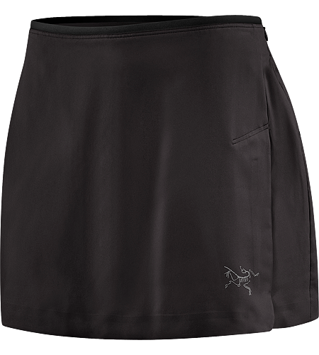 Mentum Skort Women's Technical running skort with four-way mechanical stretch fabric and integrated moisture-wicking inner brief.