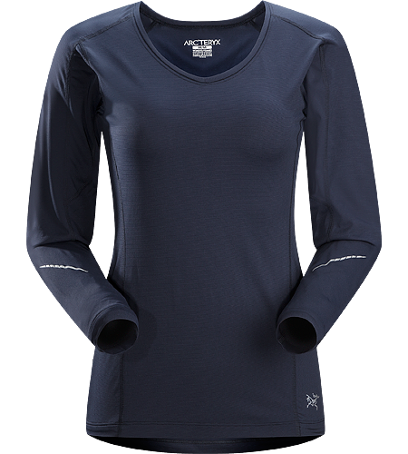 Motus Crew LS $^Women's^$ Relaxed fit, long-sleeved, crew neck shirt constructed using Phasic Technology textile;  Ideal for high-output, stop-and-go activities.
