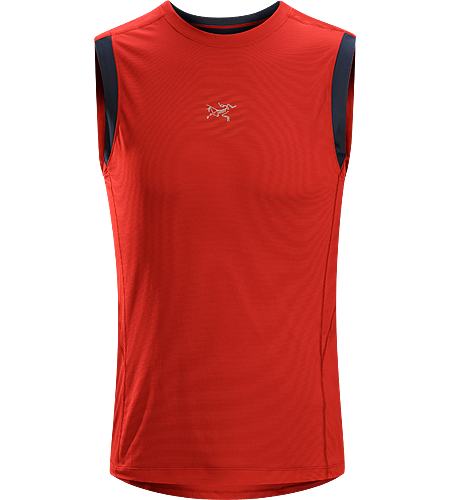 Motus Sleeveless $^Men's^$ A technically designed, trim-fitting sleeveless top, designed for high output aerobic activities such as trail running.