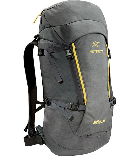 Nozone 35 A smaller-volume, robust yet highly comfortable backpack designed for alpine expeditions.