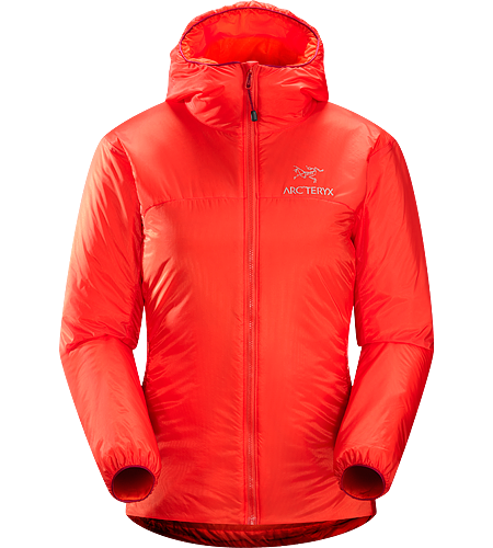 Nuclei Hoody Women's Lightweight, compact, trim-fitting belay jacket with a high warmth-to-weight ratio
