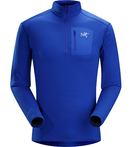 Rho LTW Zip Neck Men's MAPP Merino wool base layer jersey.