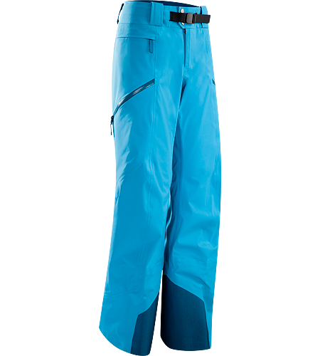 Sentinel Pant Women's Waterproof, women-specific GORE-TEX® pants, designed for riders/skiers, featuring a Slide n' Loc™ snap system that attaches pants to a jacket