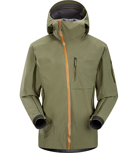 Sidewinder Jacket Men's Tough waterproof hardshell jacket with Storm Hood™,  Slide 'n Loc snap system on the powder skirt, and enhanced GORE-TEX® fabric with a softer face. Sidewinder front zipper curves away from your face.