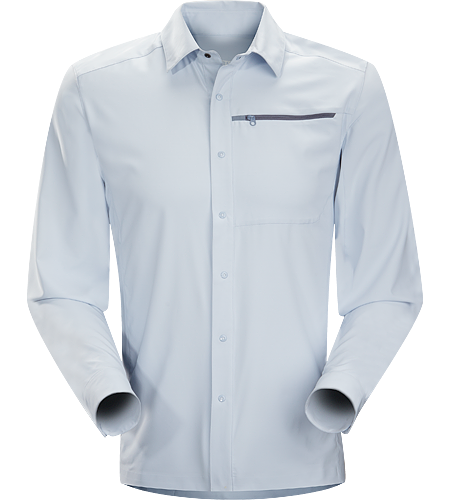 Skyline Shirt LS Men's Super lightweight, moisture-wicking long sleeve shirt with a standard button collar and a soft hand, perfect for summer days