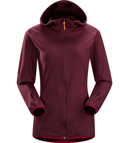 Soltera Hoody Women's Athletic fitting hoody made of stretchy, breathable jersey fabric; ideal for aerobic pursuits.