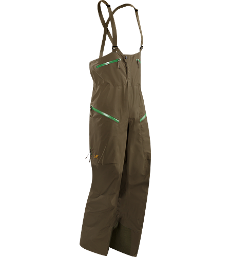 Stinger Bib $^Men's^$ Durable and waterproof bib pant, patterned for gender specific articulation, and designed a higher bib, large volume thigh pockets, and an enhanced fit.