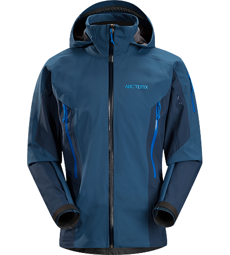 Stingray Jacket Men's Lightly insulated, waterproof GORE-TEX® with 3L softshell construction jacket designed for use on the ski hill.
