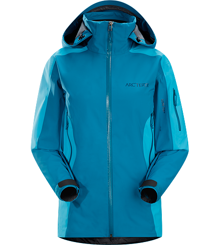 Stingray Jacket Women's Lightly insulated, waterproof GORE-TEX® with 3L softshell construction jacket designed for use on the ski hill.