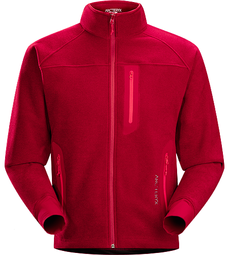 Strato Jacket Men's Moisture-wicking, breathable, mid-layer fleece jacket designed for snowsport activities
