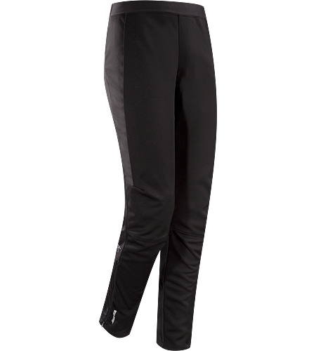 Trino Tight $^Men's^$ Trim fitted, full length tight for cold, windy conditions, constructed with windproof textile in the front of the legs, and moisture wicking, stretchy knit textile in the back of the legs for comfort and warmth