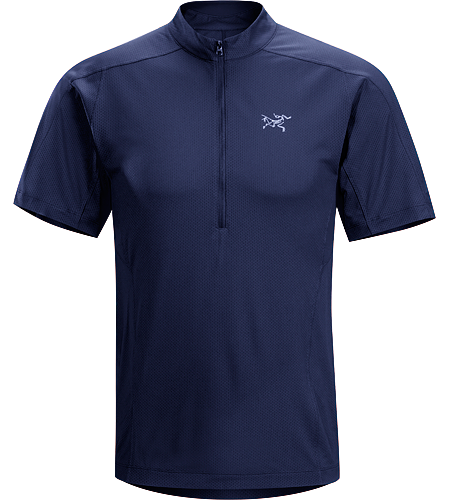 Velox Zip Neck $^Men's^$ Lightweight and highly breathable endurance running shirt with a deep front zipper.