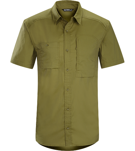 A2B Shirt SS Men's Relaxed fit, button down, cotton/polyester, short sleeved shirt for everyday living and urban commutes.