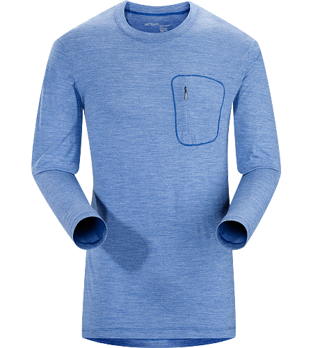 A2B T-Shirt LS Men's Minimalist wool blend casual crew neck shirt delivers outdoor performance for the active urban lifestyle.
