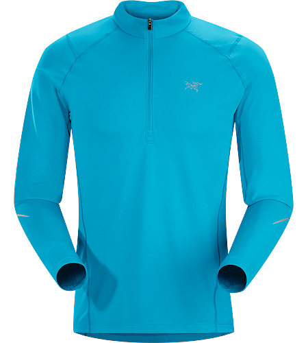 Accelerator Zip Neck LS Men's Midweight, quick drying, long sleeve zip neck designed for high octane activities in cool conditions.