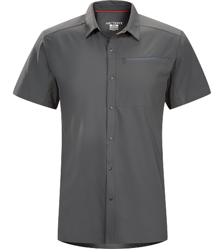 Adventus Comp SS Men's Super lightweight, quick drying, snap front Diem™ polyester long sleeve collared shirt with crisp, contemporary style and Phasic™ SL underarm panels for moisture management.