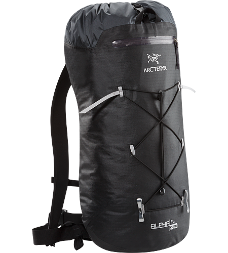 Alpha FL 30 Backpack Alpha Series: Climbing and alpine focused systems | FL: Fast and Light. Ultralight and highly weather resistant 30 litre climbing pack suited to fast and light alpine, ice and rock routes.